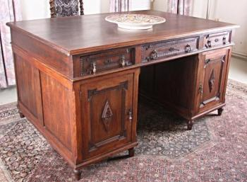 Writing Table - solid oak - 1925